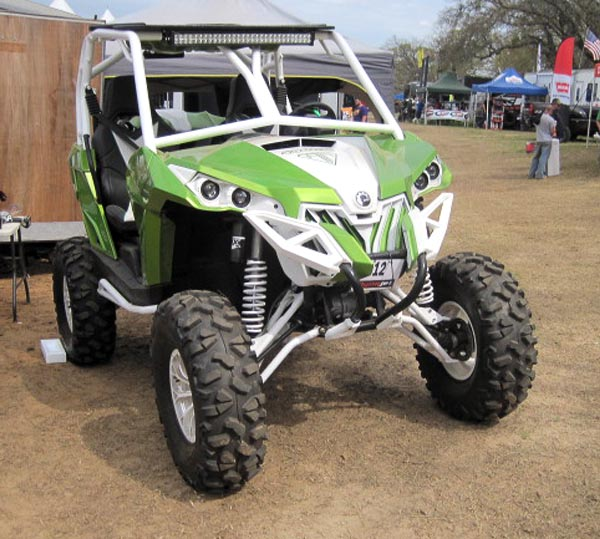 This custom S3 Power Sports Maverick, sporting STI Roctane XD tires, turned heads.