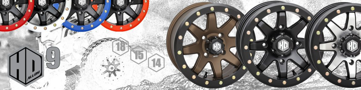 Matte Black//Machined STI HD9 Beadlock 14x7 ATV//UTV Wheel 6+1 4//156