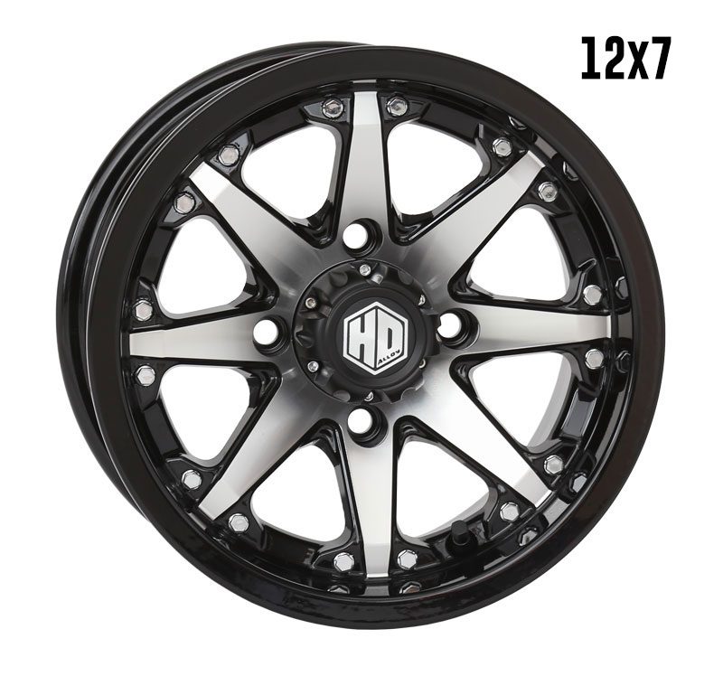 Hd10 Gloss Black Machined Sti Powersports Tires